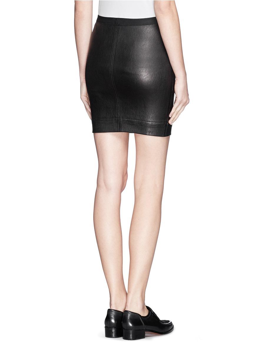 helmut lang leather skirt in black lyst