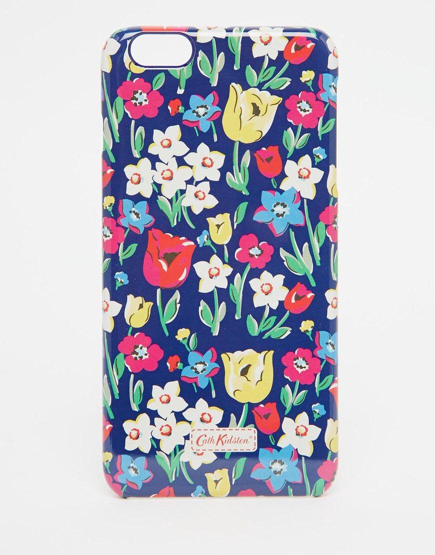 super popular 3f6de 44ca4 Cath Kidston Paradise Fields Iphone 6 Plus Case in Blue - Lyst