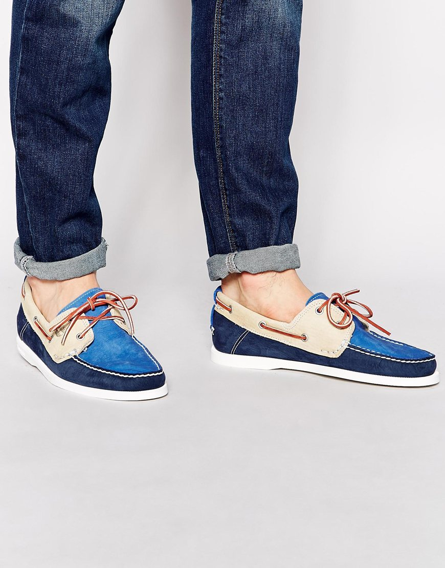 timberland heritage boat shoes blue