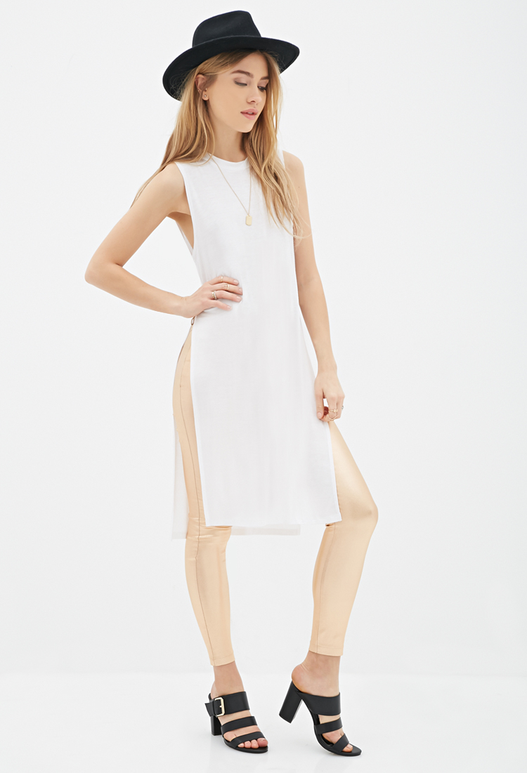 Lyst Forever 21 High Slit Midi Dress You Ve Been Added To The