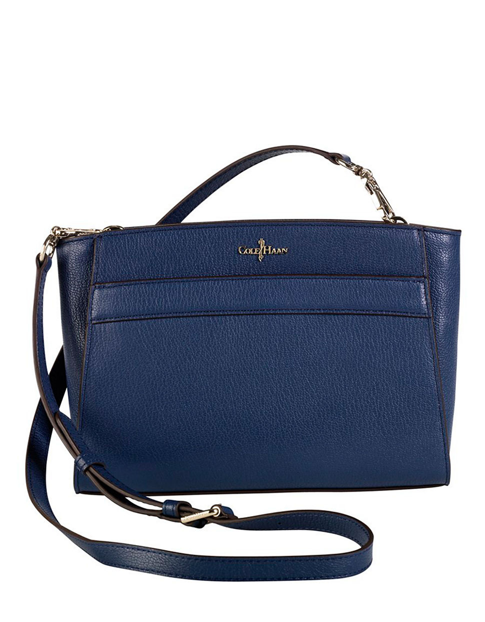 Cole Haan Leather Convertible Crossbody Bag in Blue