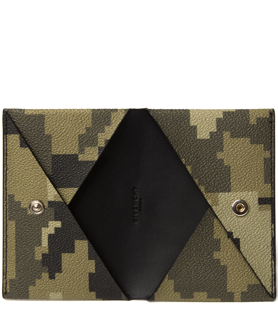 Lyst - Givenchy Camouflage Business Card Case in Green for Men