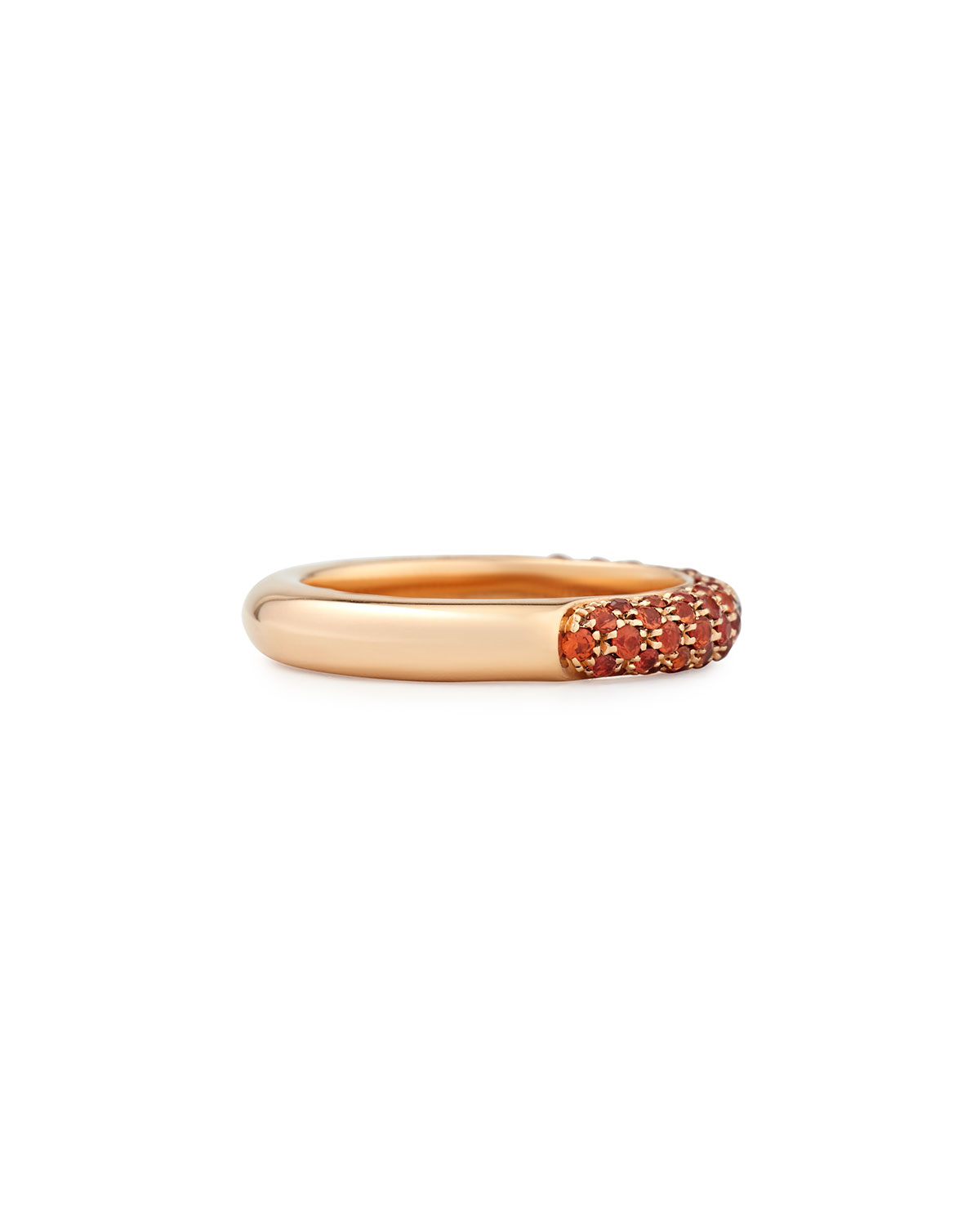 Adolfo Courrier Pop Collection Orange and Diamond Band Ring JKtY0y