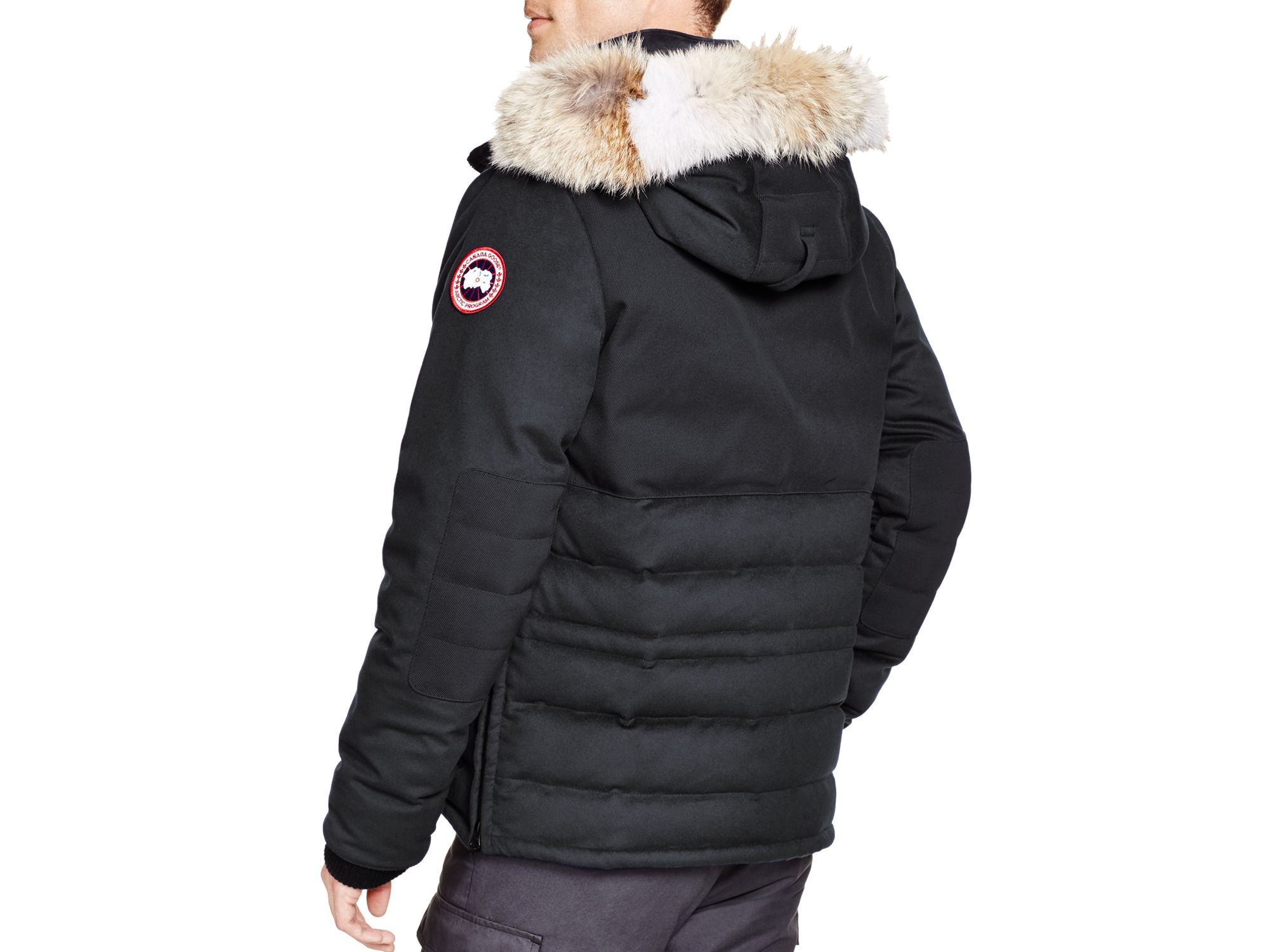 ed948194314b ... wholesale lyst canada goose langford parka fusion fit in black for men  a9479 ccc9c