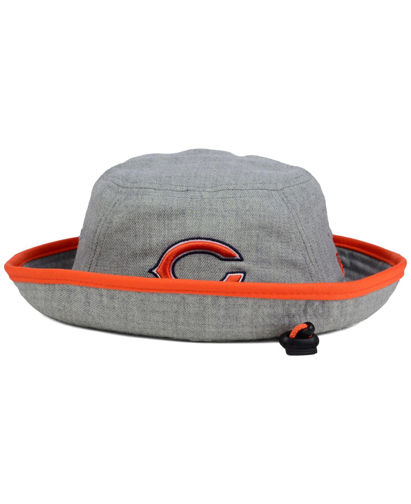 b29b77b1ded Lyst - KTZ Chicago Bears Nfl Heather Gray Bucket Hat in Gray for Men