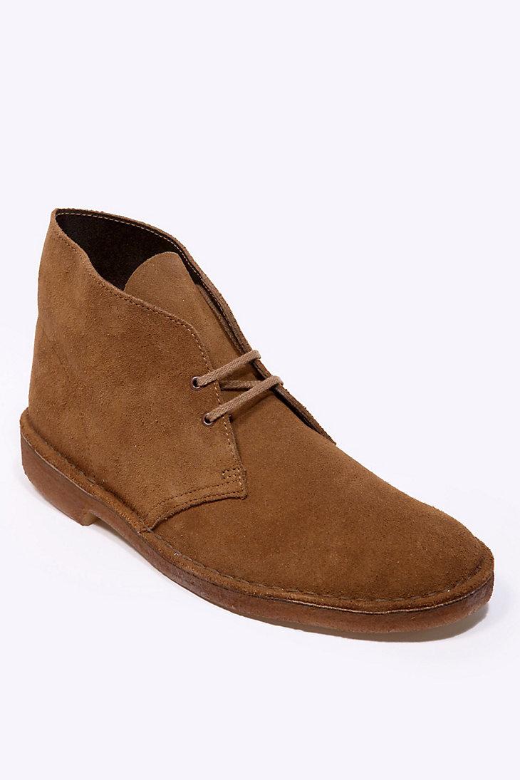 clarks originals cola suede desert boots in brown for