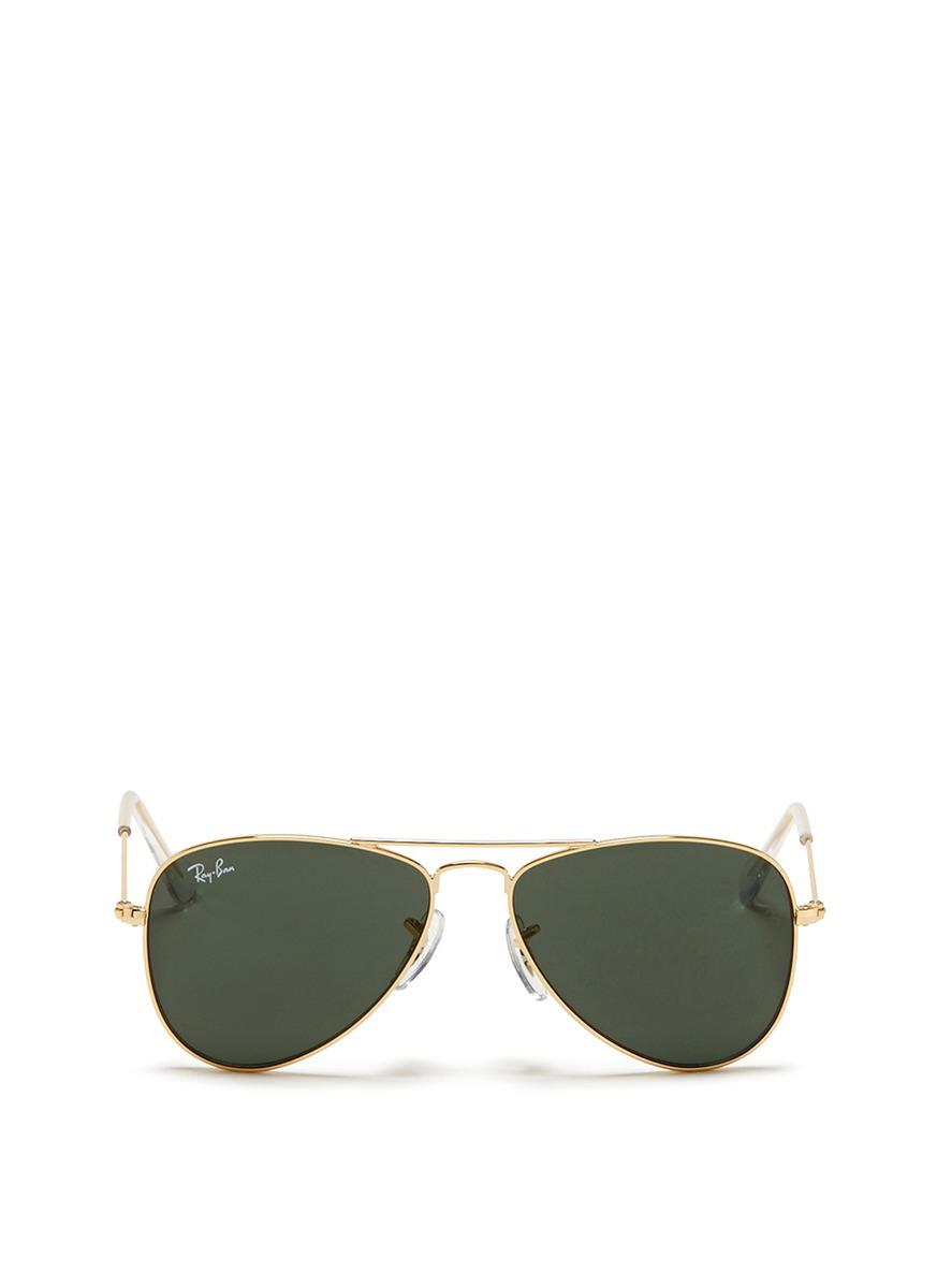 Lyst - Ray-Ban 'aviator Junior' Metal Frame Sunglasses in
