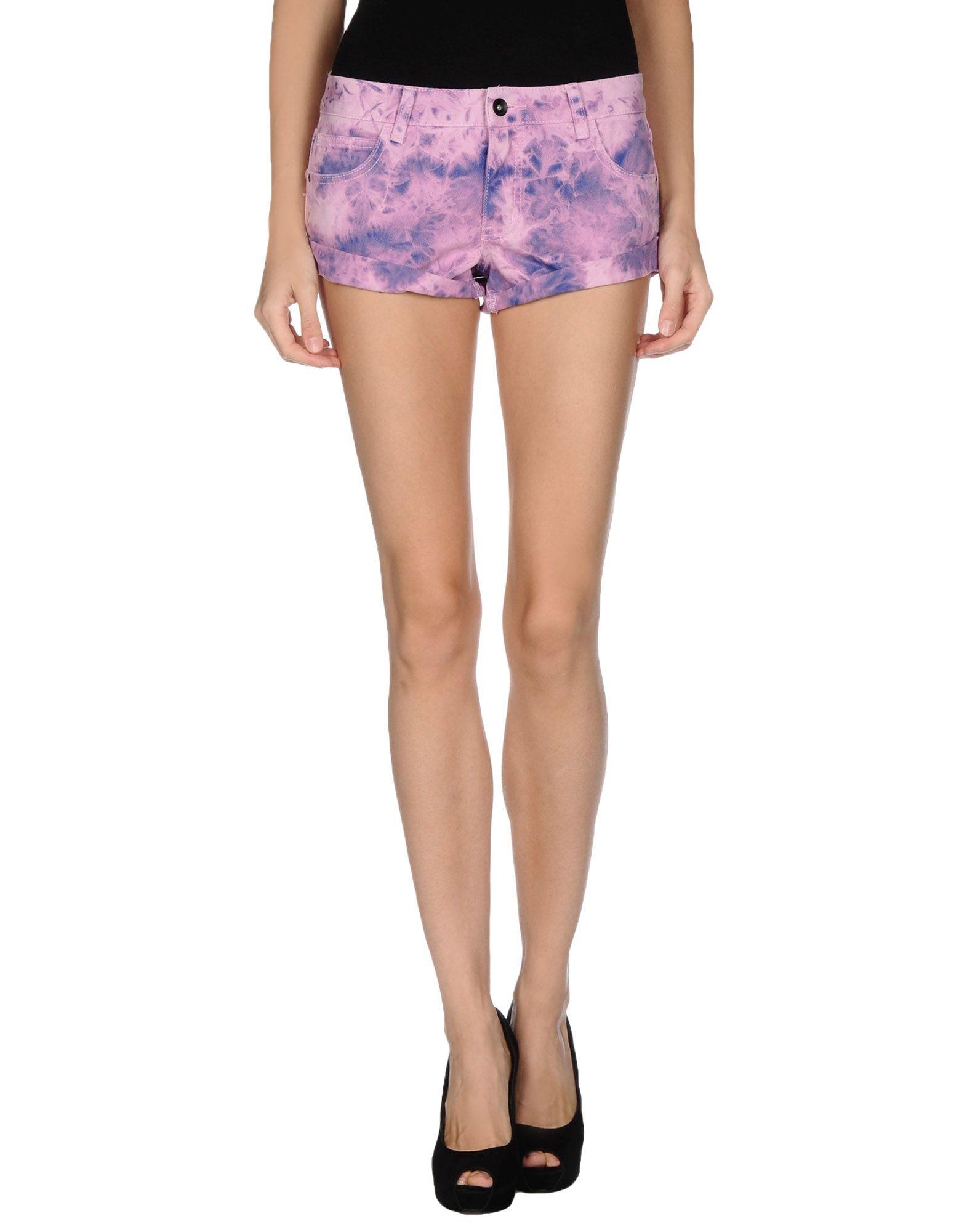Billabong Denim Shorts in Purple | Lyst