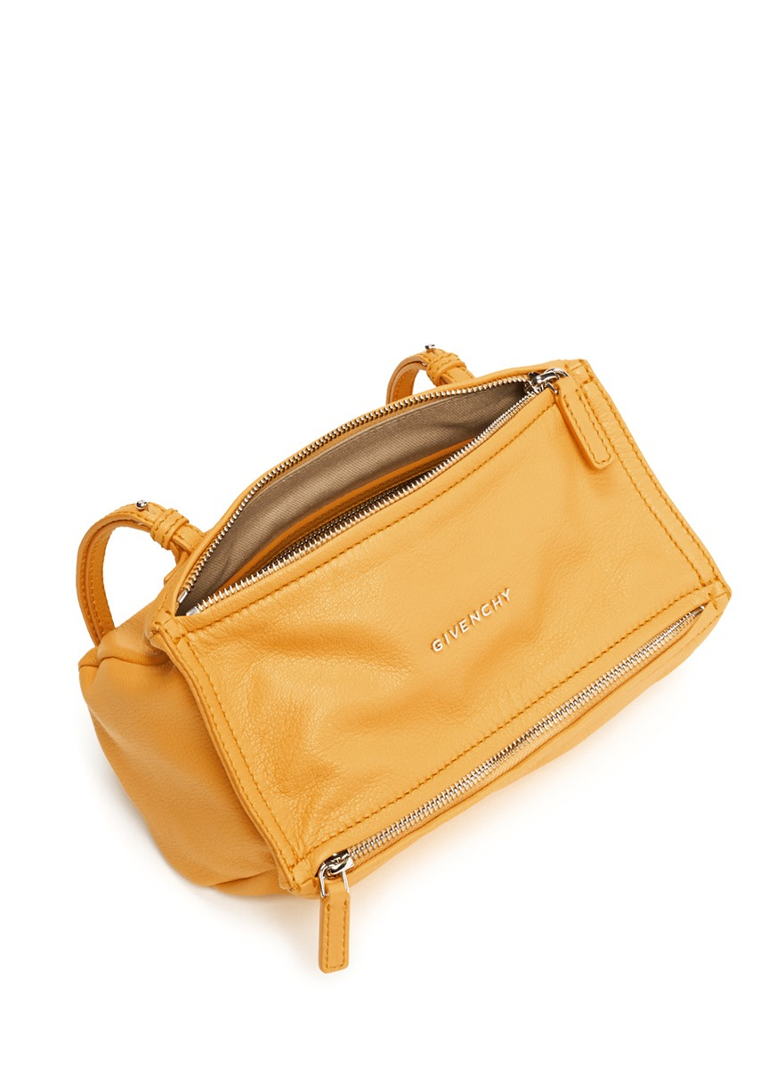 533a9642c8a Lyst - Givenchy Pandora Mini Crossbody Leather Bag in Yellow