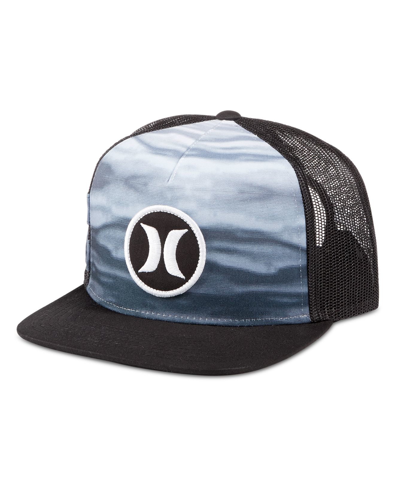 new concept 64442 b325e ... inexpensive lyst hurley men s block party flow graphic print snapback  hat in fc0c4 b5191