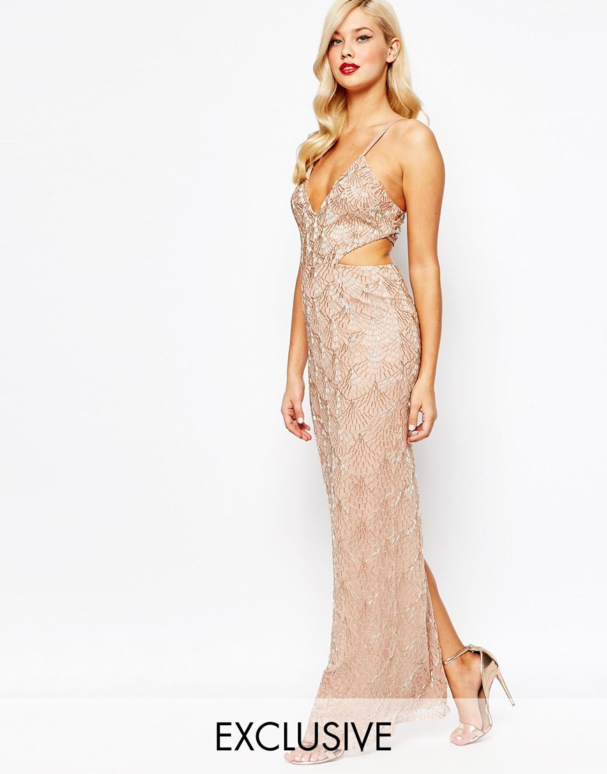 Maxi dress rose gold zodiac