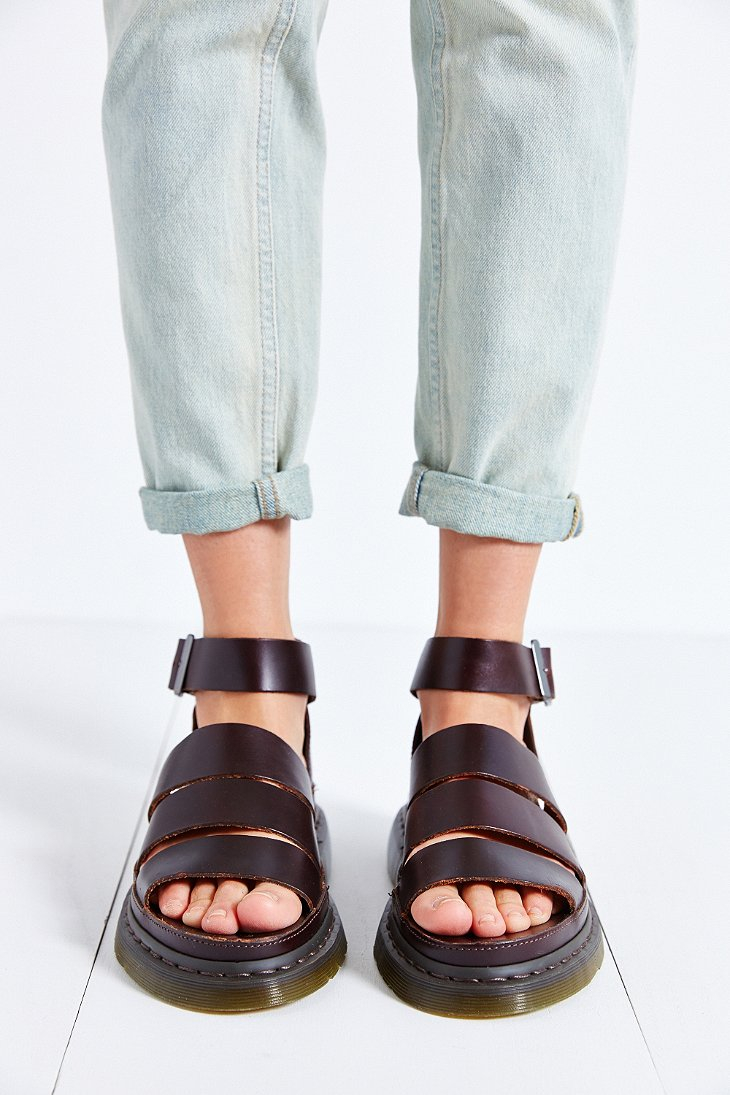 Lyst Dr Martens Clarissa Chunky Strap Sandal In Purple