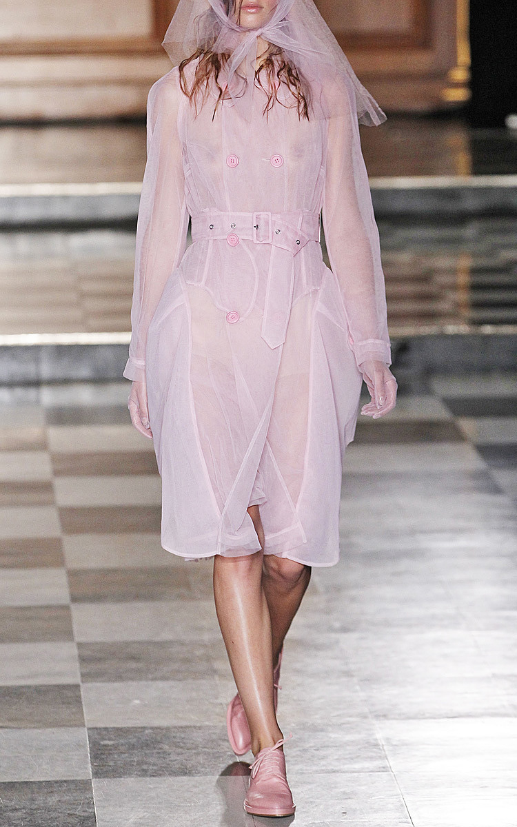 Simone rocha Pink Tulle Trench Coat in Pink   Lyst