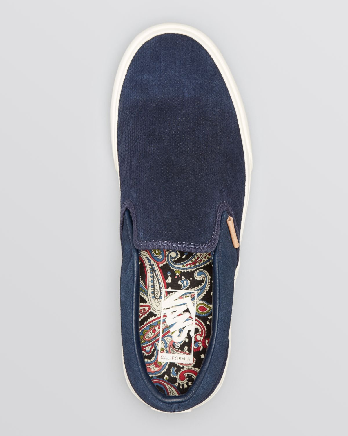 5d72698493f Lyst - Vans Classic Ca Knit Suede Slip On Sneakers in Blue for Men