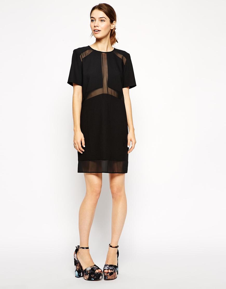 Sheer black t shirt dress - Dressed for less