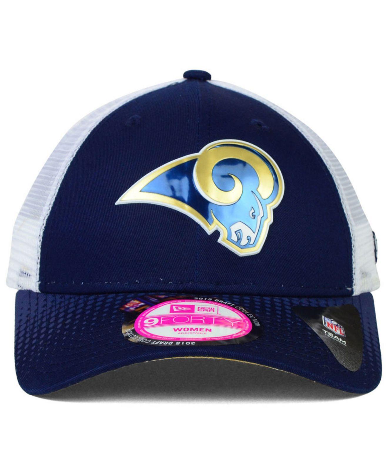 8a28b2416 Lyst - KTZ Women s Los Angeles Rams Draft 9forty Cap in Blue