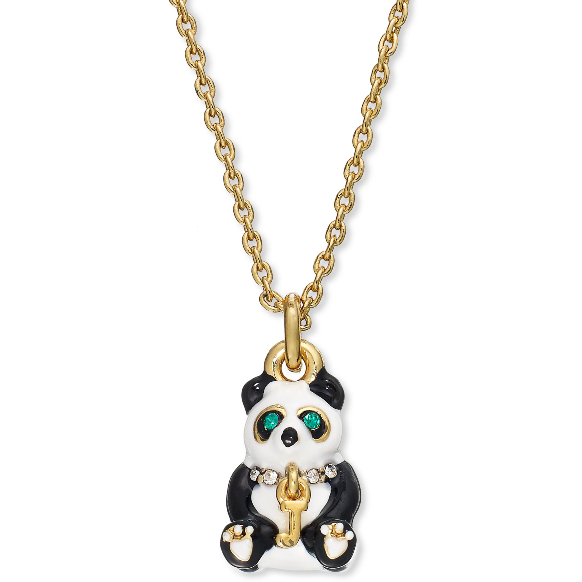Juicy Couture Goldtone Panda Charm Necklace in Gold | Lyst