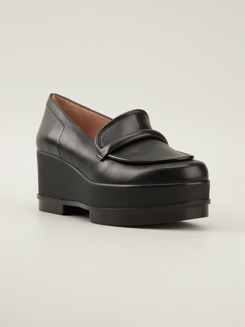 7d8a1d95a28 Lyst - Robert Clergerie  yokole  Platform Loafers in Black
