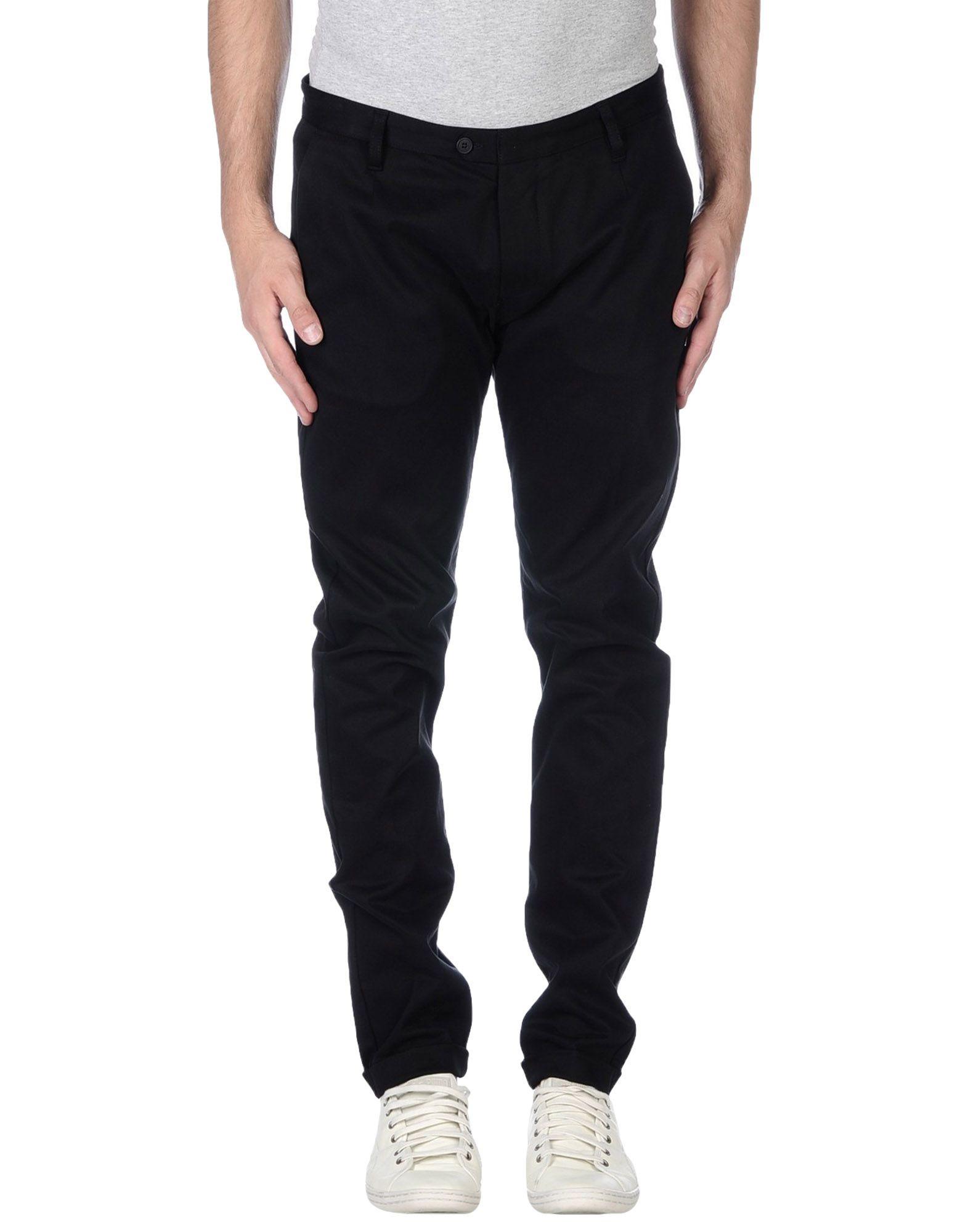 Officina 36 Casual Trouser in Black for Men