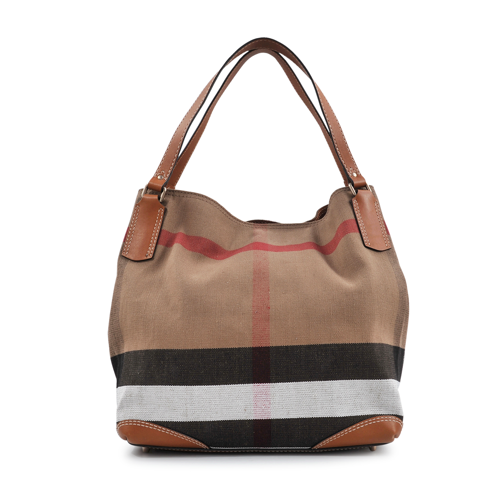 Lyst - Burberry Sm Maidstone Brit Canvas Bag in Brown 87905472fe