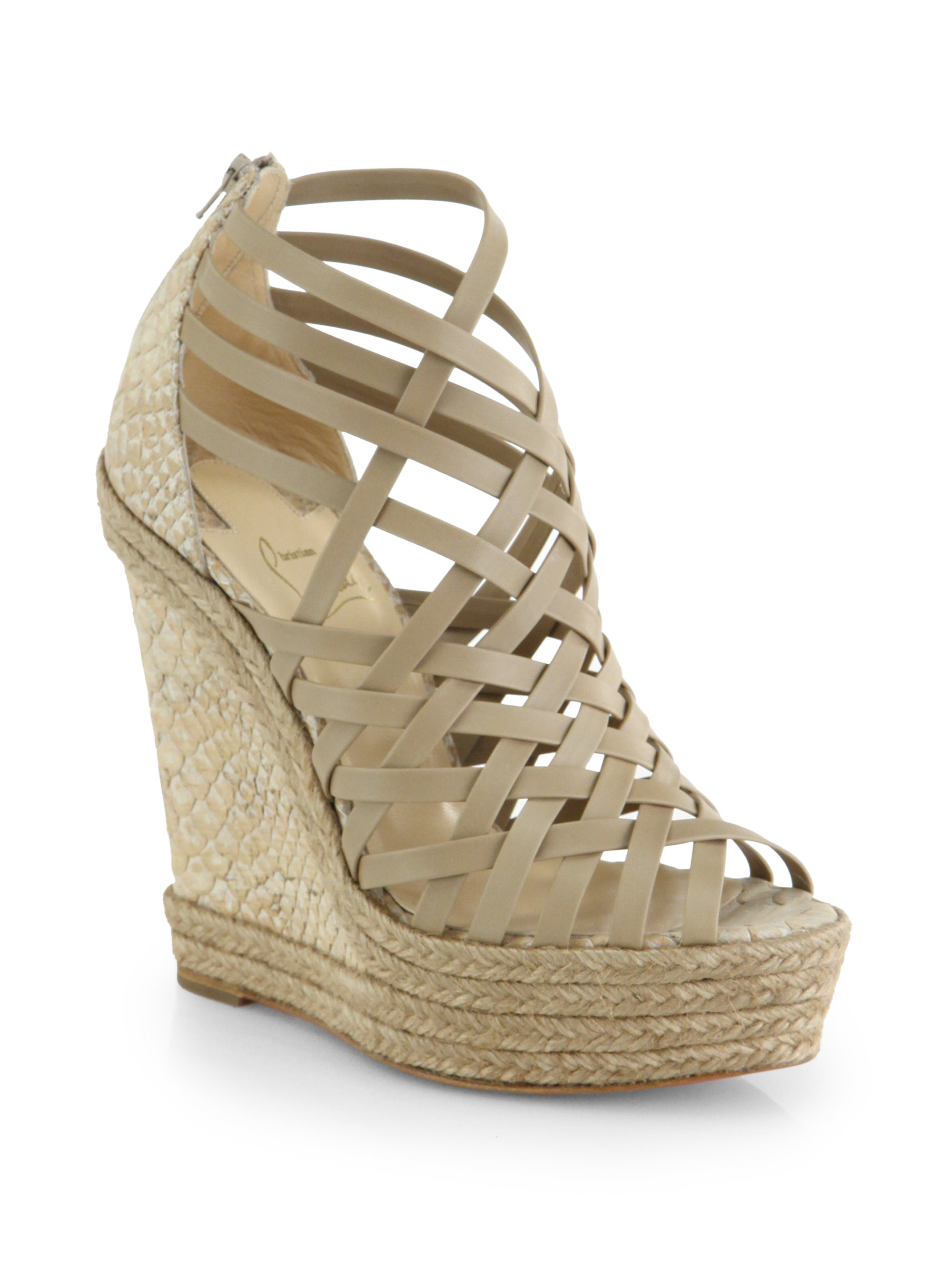 christian louboutin cork wedge sandals | The Filipino Language ...
