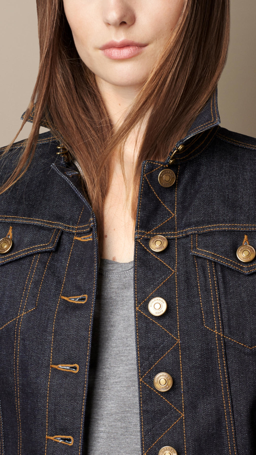 6b33c70d51 Lyst - Burberry Japanese Stretch Selvedge Denim Jacket in Blue