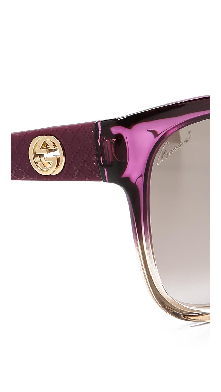 Purple Gucci Sunglasses  gucci two tone faded sunglasses in purple lyst