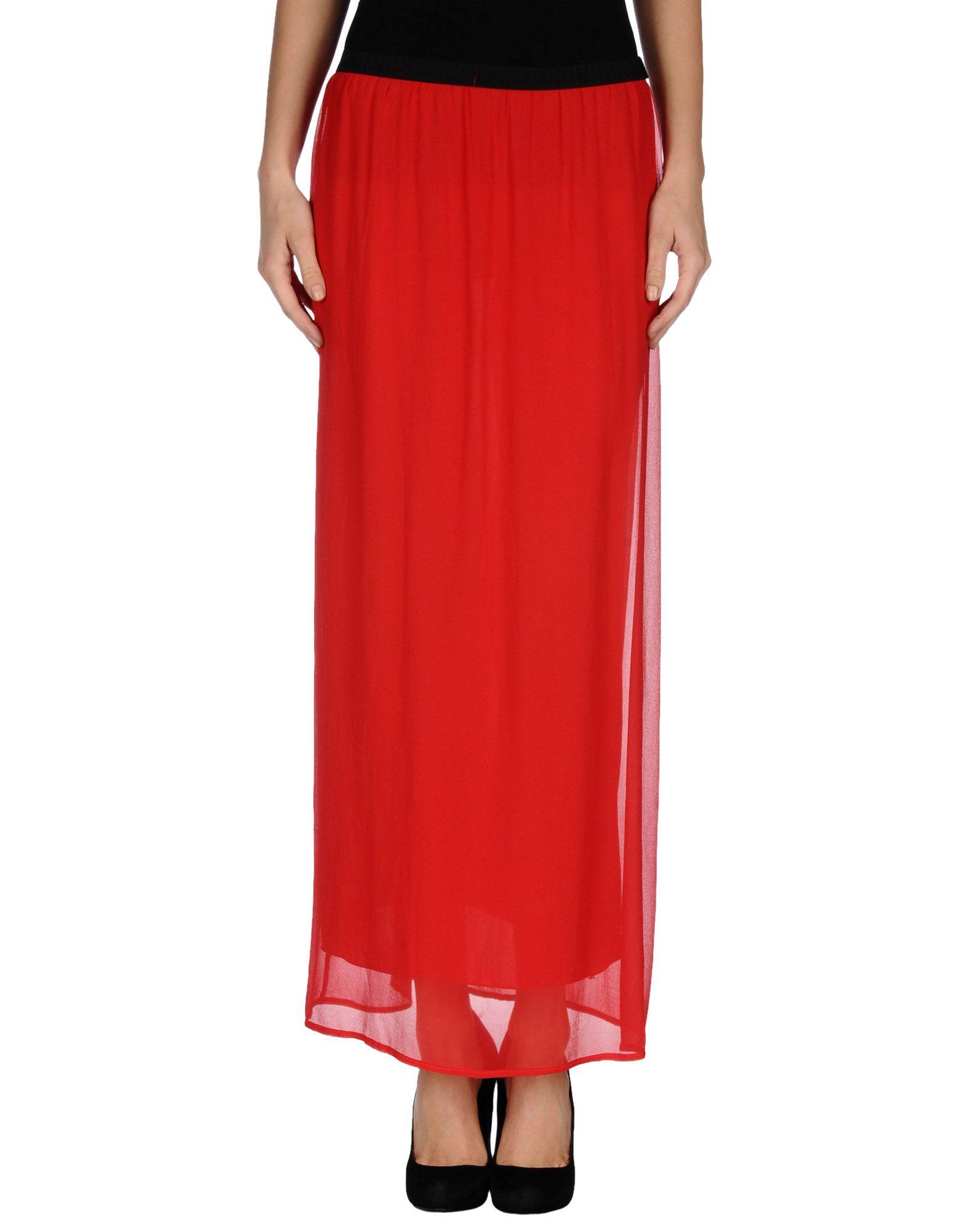 Soallure Long Skirt in Red | Lyst