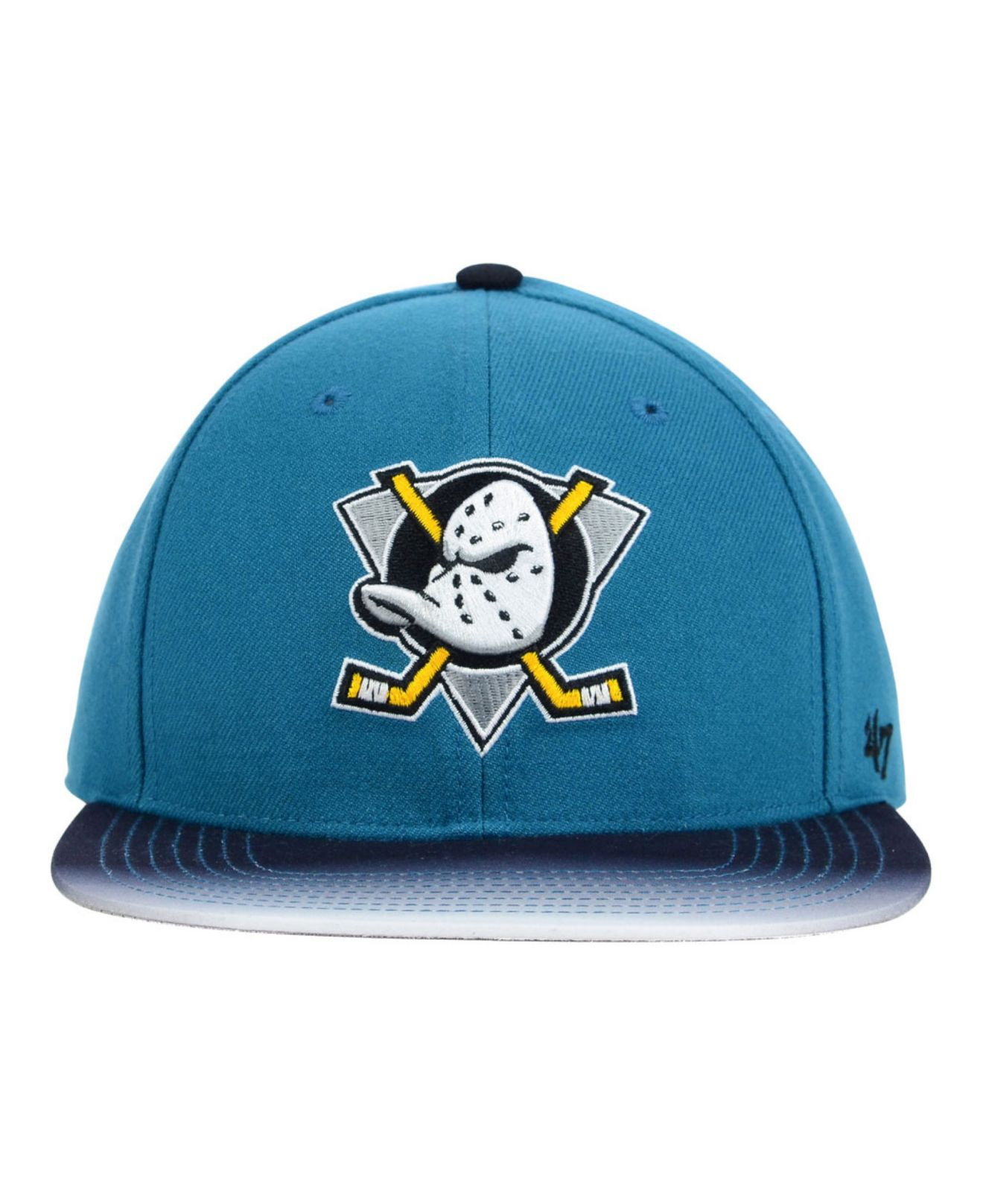 ab4ebd25b73 Lyst - 47 Brand Anaheim Ducks Dissolve Snapback Cap in Blue for Men