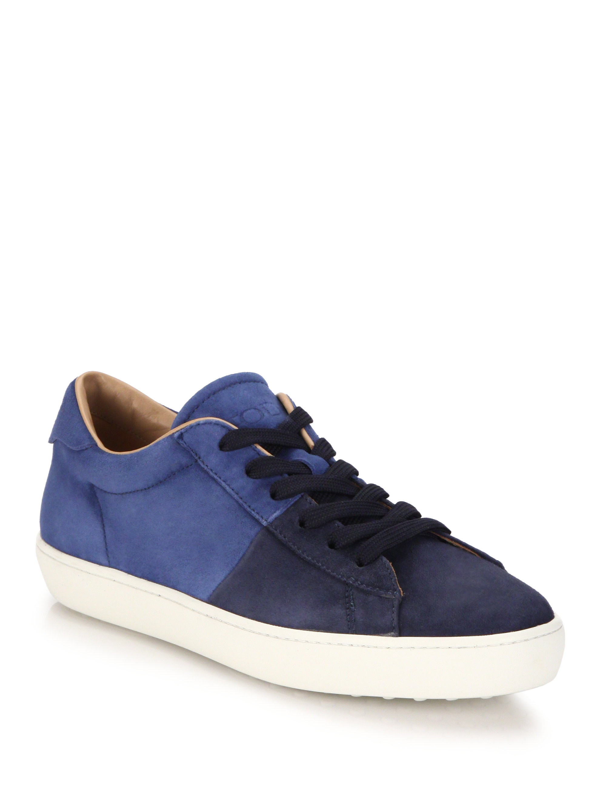Blue sneakers with studs Tod's TExZkceE