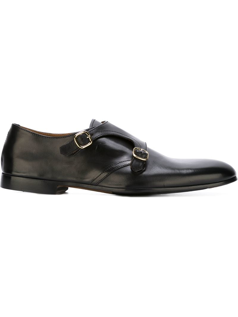 doucal s monk shoes in black for lyst
