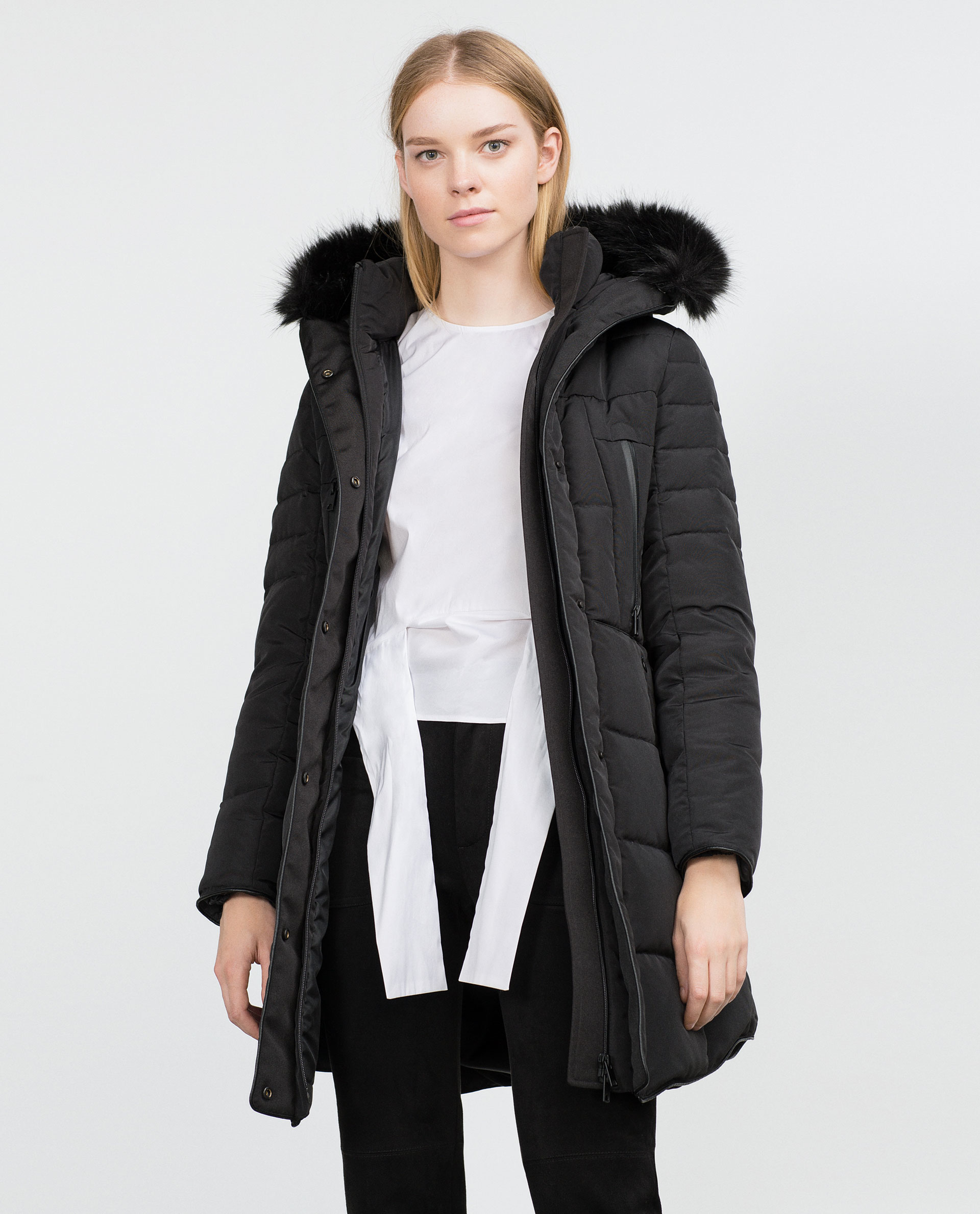Black Quilted Coats For Women - JacketIn : quilted coat with hood - Adamdwight.com