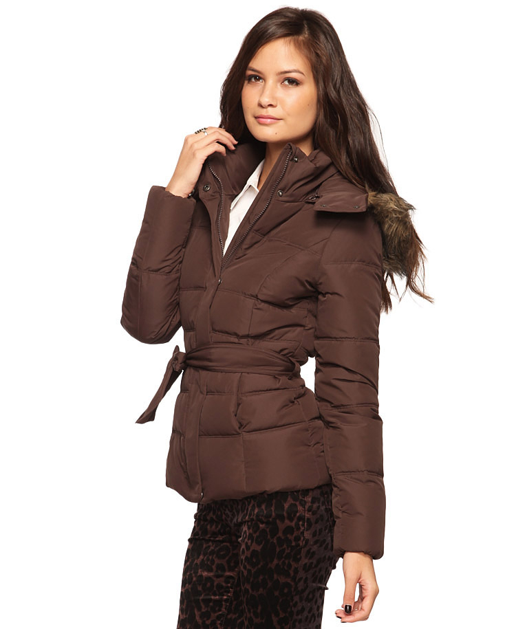 Brown Puffer Jacket Jacket To