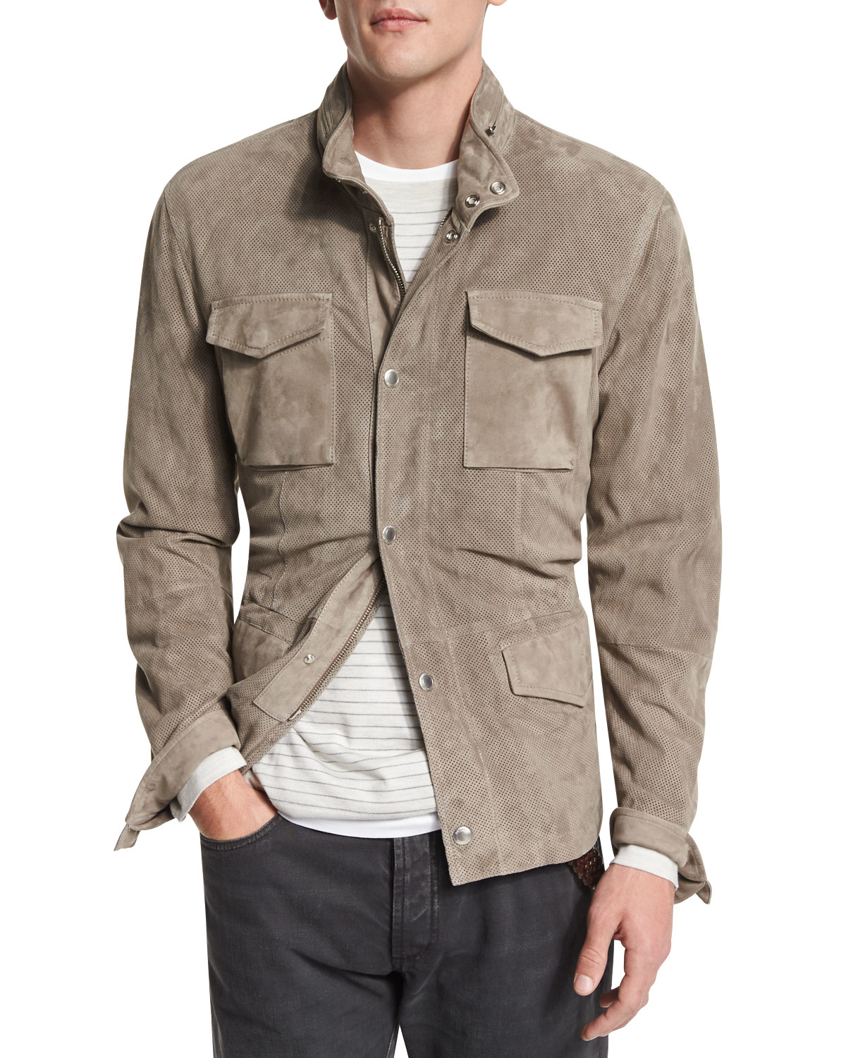"""The field jacket, and the clothes that go with it, are garments of unrivalled practicality and style. They work as well in the city as they do on the savanna. And over time the field jacket has become a sort of """"un-blazer"""", a favourite of those whose careers are creative or rugged."""
