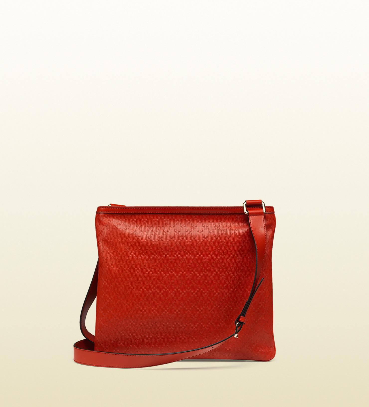 97203fcdd9d2f0 Gucci Bright Diamante Leather Messenger Bag in Orange - Lyst