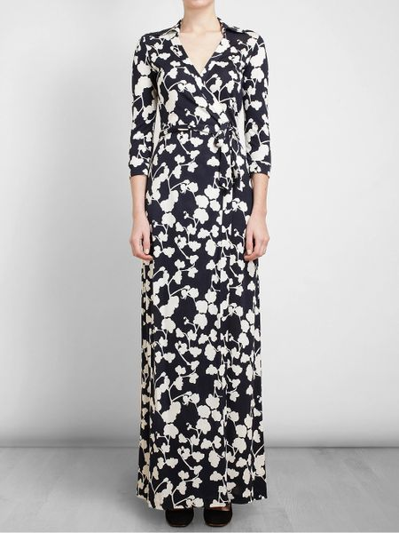 Dvf Maxi Dress Sale Silk Wrap Maxi Dress in