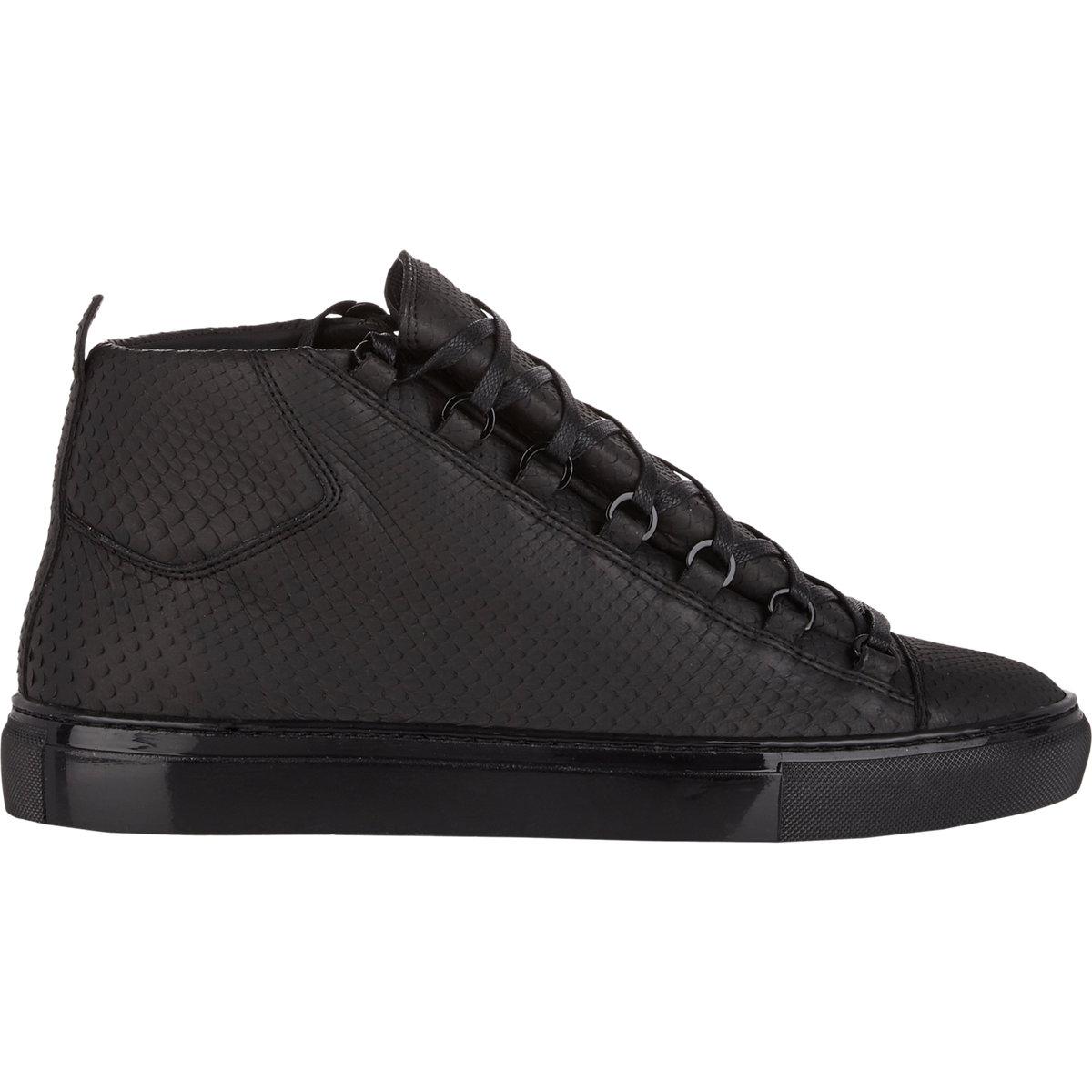balenciaga python low top arena sneakers black size 7 in black for men lyst. Black Bedroom Furniture Sets. Home Design Ideas