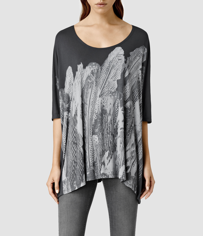 9705e06bf9ab AllSaints Zebu Dream Top in Black - Lyst