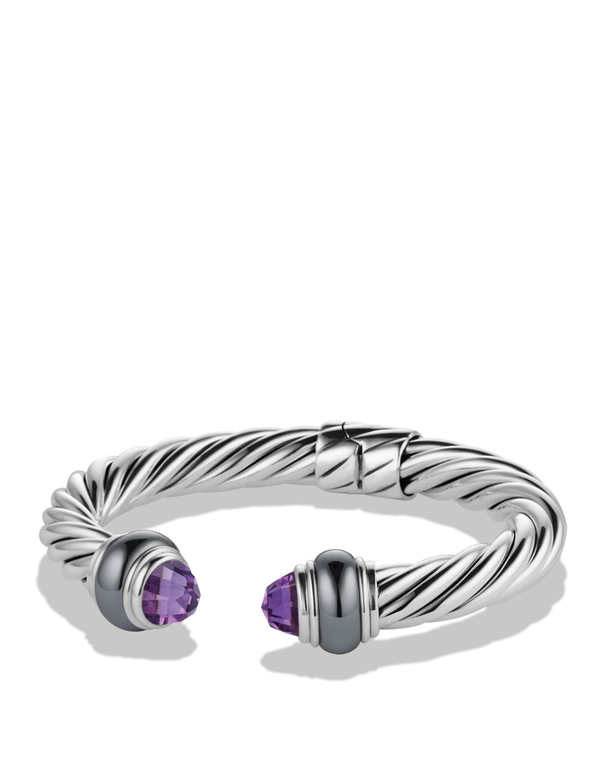 Lyst david yurman cable classics bracelet with amethyst for David yurman inspired bracelet cable