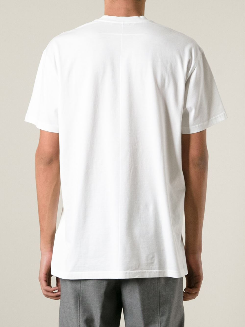 Givenchy god bless cotton t shirt in white for men lyst for Givenchy t shirt man
