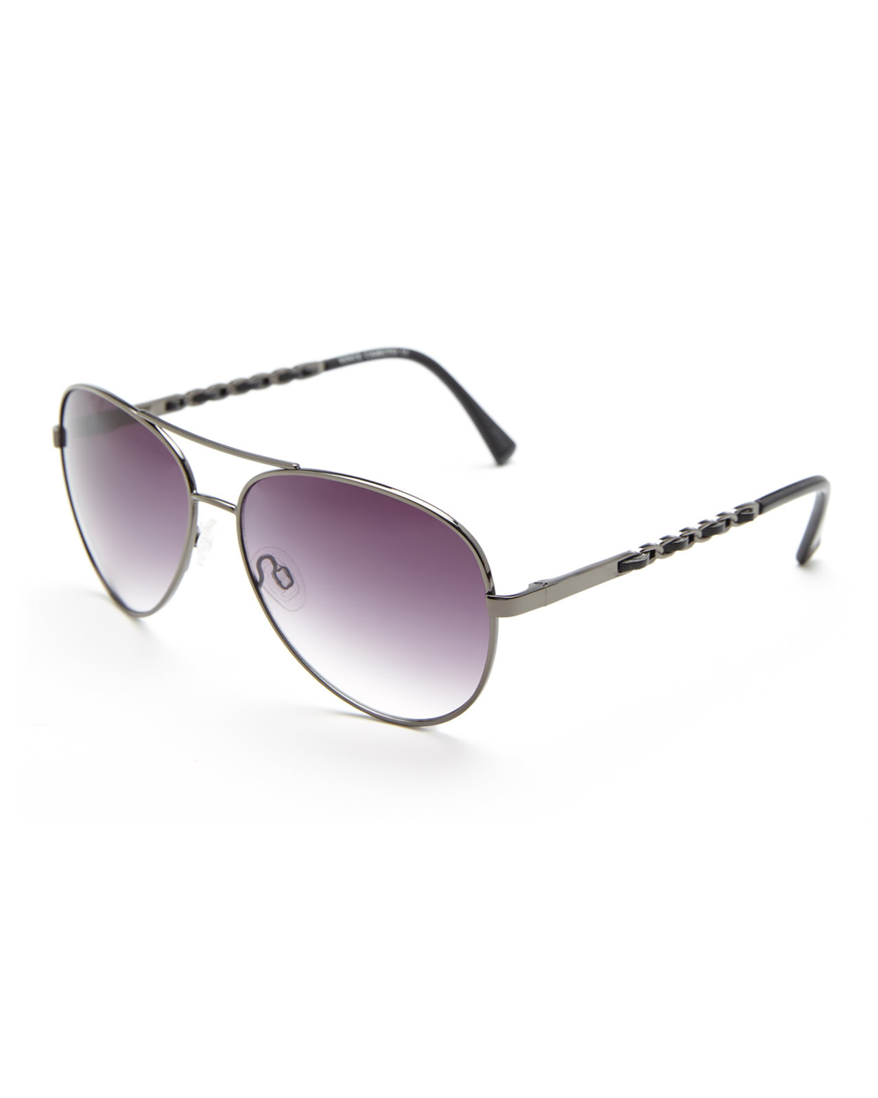 4cf0c43cb8 Lyst - Vince Camuto Vc570 Gunmetal Aviator Sunglasses in Purple for Men