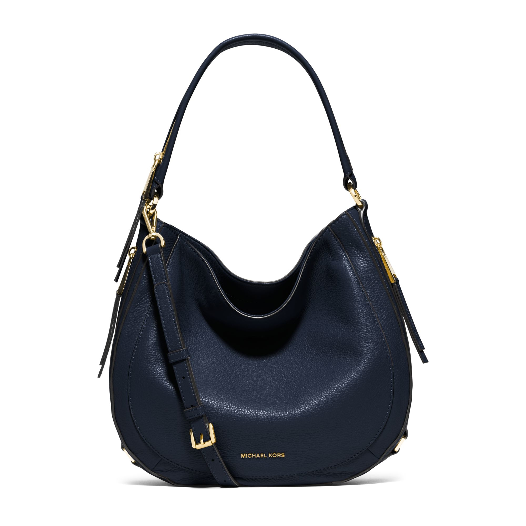 Michael kors Julia Medium Leather Shoulder Bag in Blue | Lyst