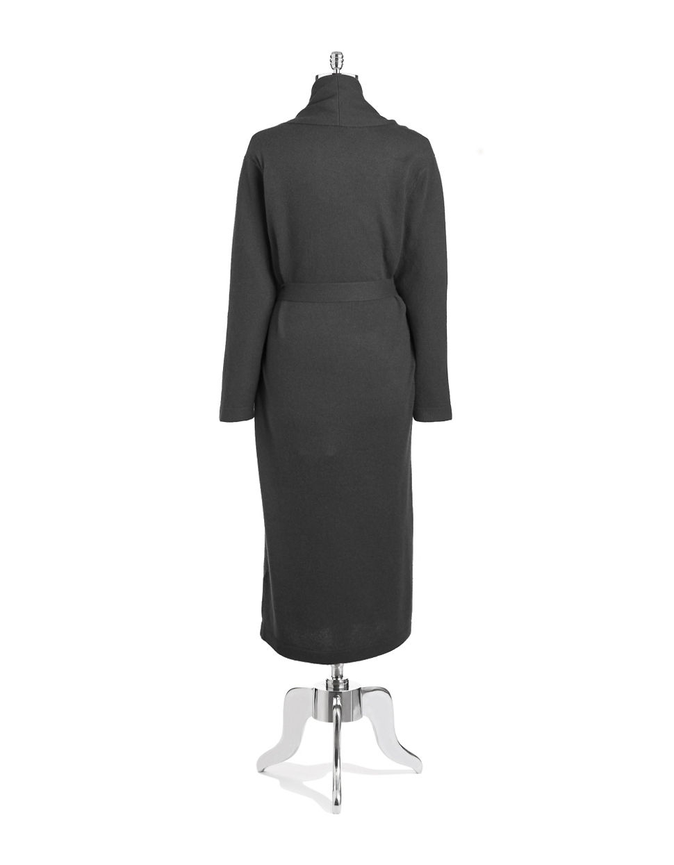 733a5f0175a31 Lord + Taylor Cashmere Long Robe in Gray - Lyst