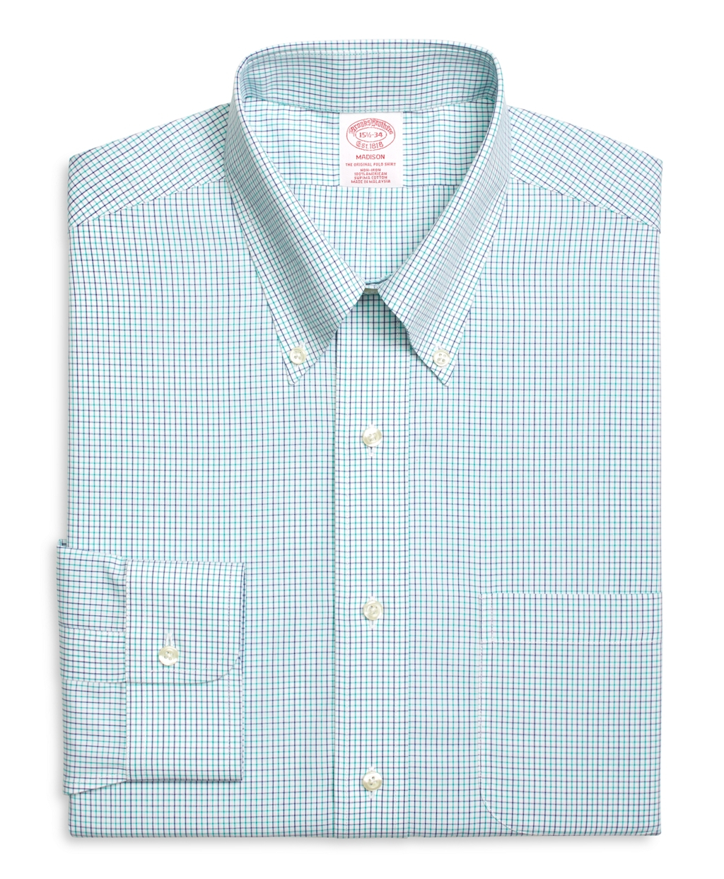 Brooks brothers non iron madison fit alternating for Brooks brothers dress shirt fit