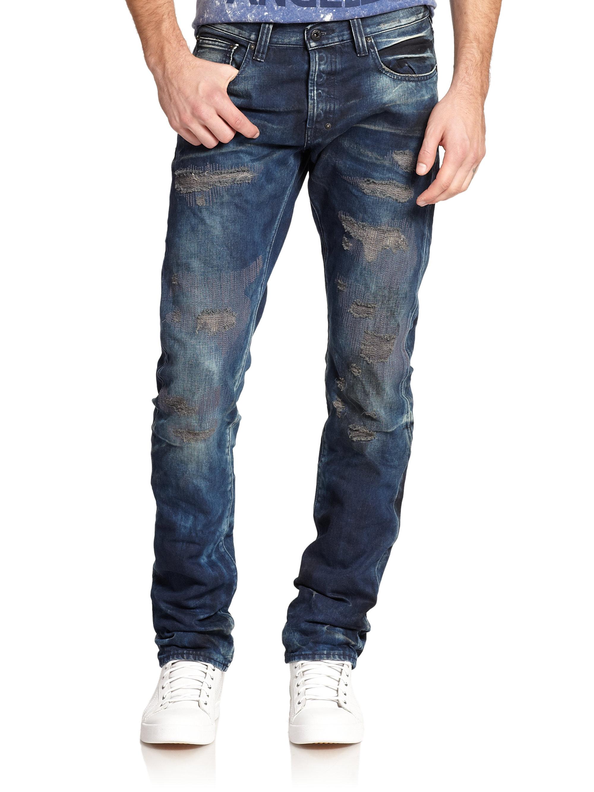 Prps Demon Distressed Slim-fit Jeans in Blue for Men | Lyst