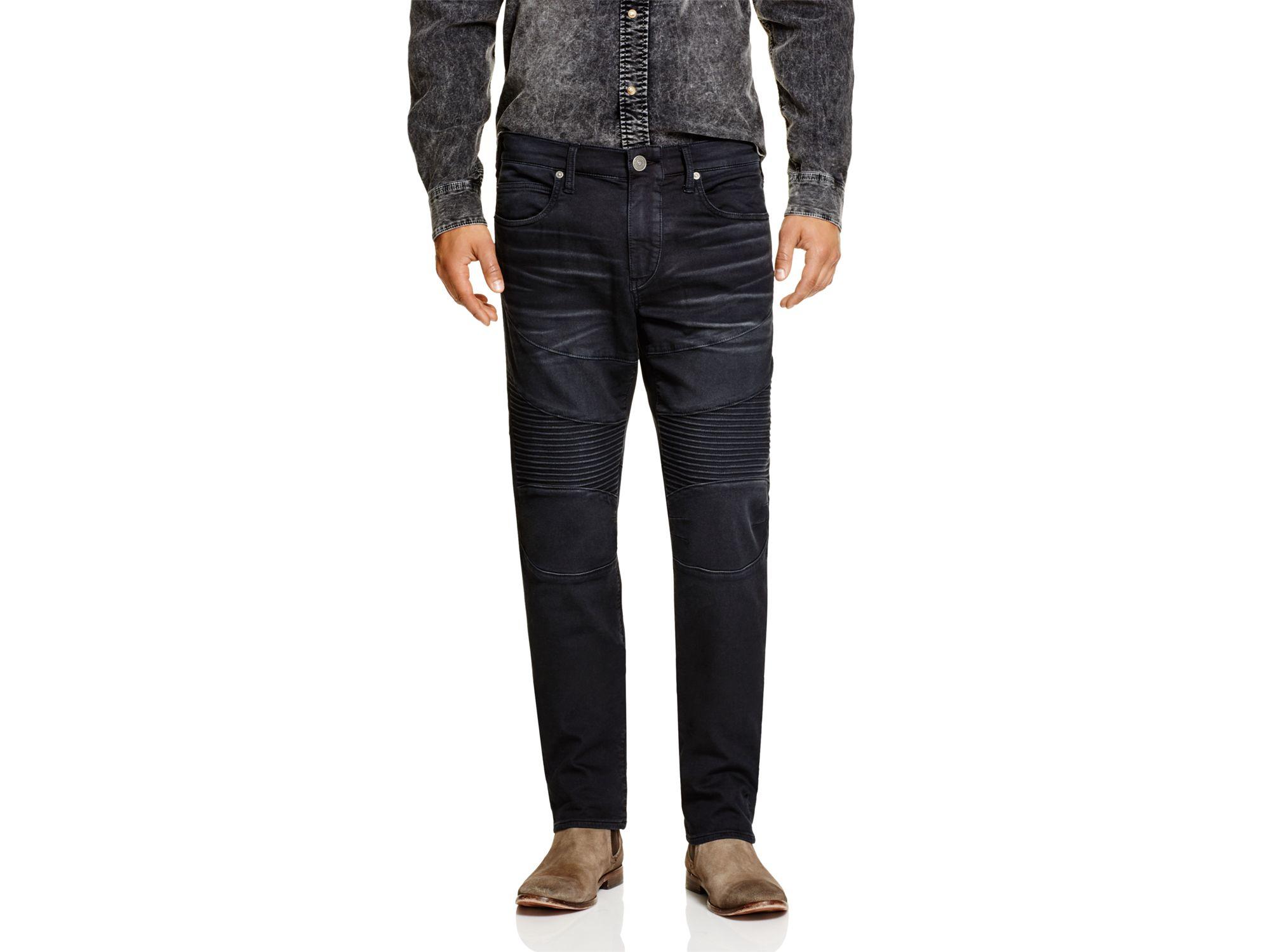a63caa93e True Religion Overdye Active Rocco Moto Slim Fit Jeans In Black in ...