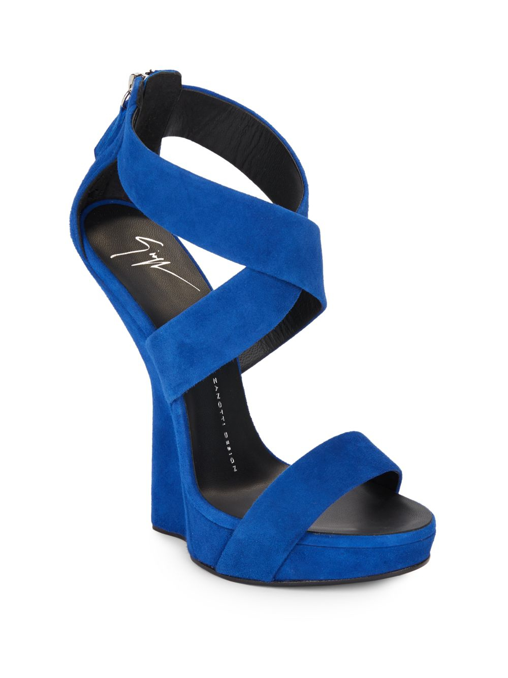 giuseppe zanotti blue suede shoes