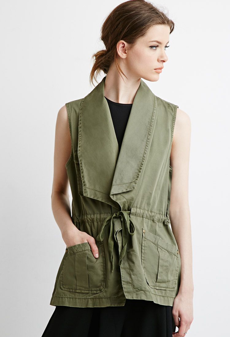 Images of Olive Green Parka Womens - Reikian