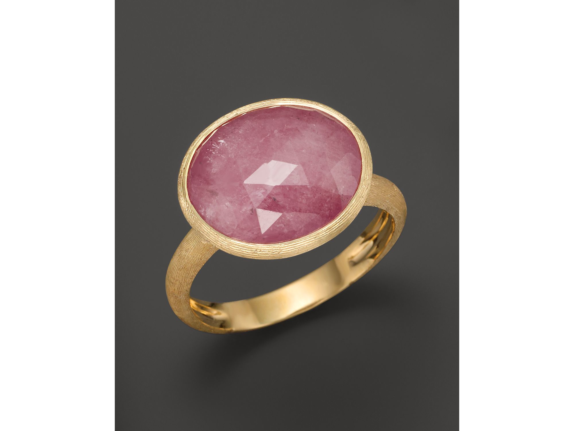 Marco Bicego Siviglia 18k Gold Pink Sapphire Ring In