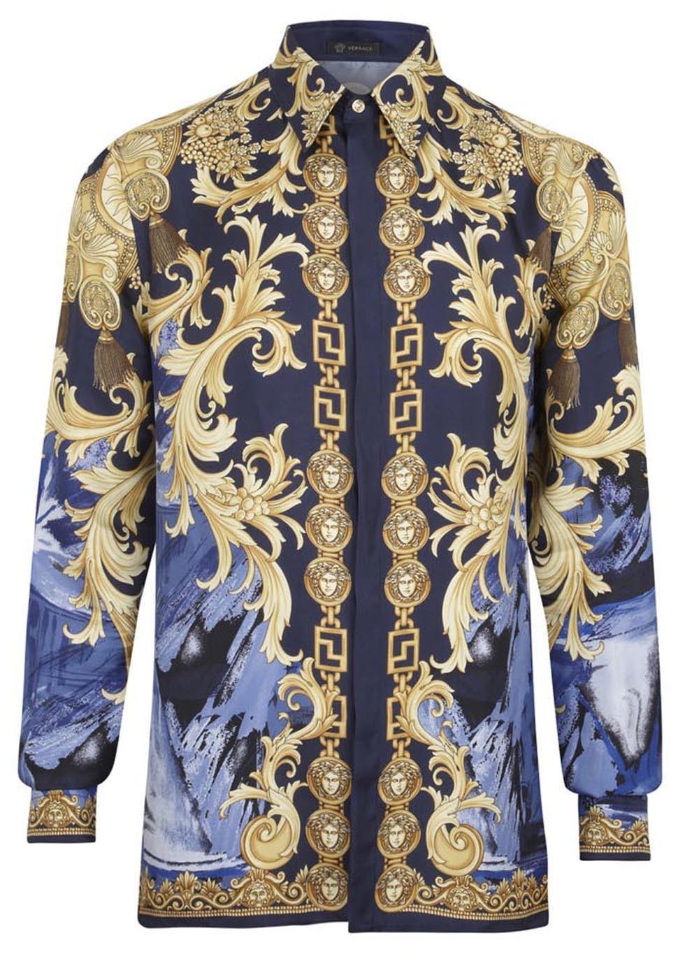 versace silk shirt replica